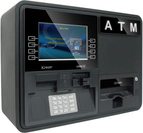 Nautilus Hyosung Onyx W Wall-Mount or Countertop ATM, left view